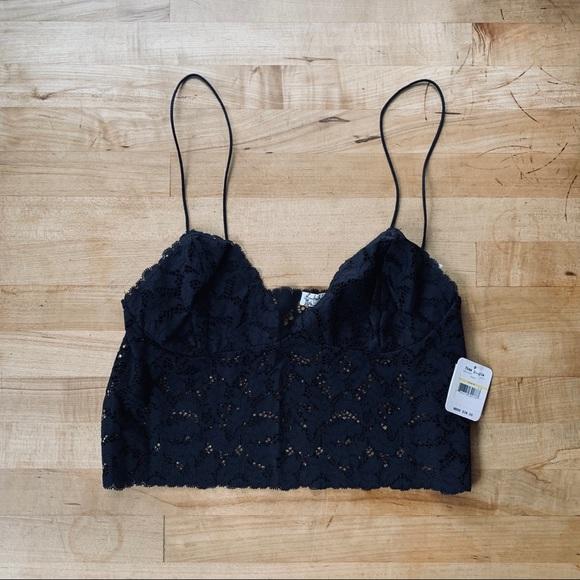 ffff5a6f66e9 Free People Intimates & Sleepwear | Fp Lace Black Sheer Camisole ...